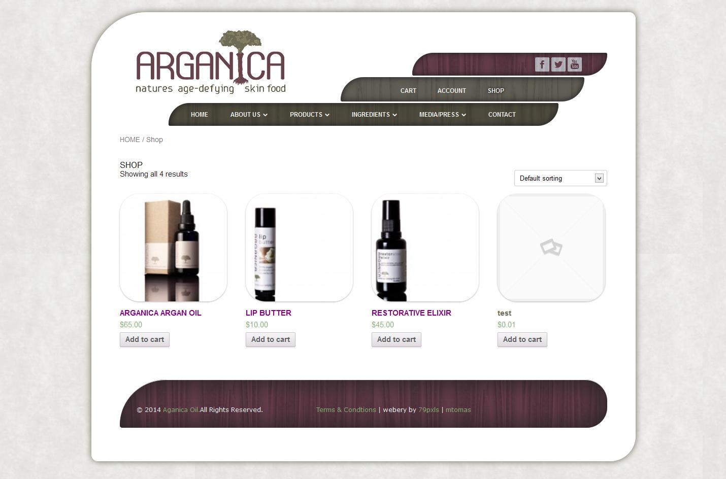 arganicaoil.com - 2 - woocommerce listing