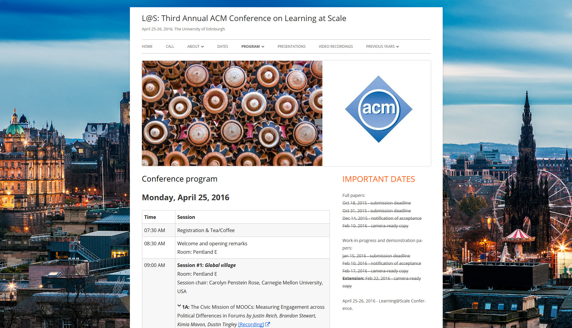 learningatscale-acm.org - las2016